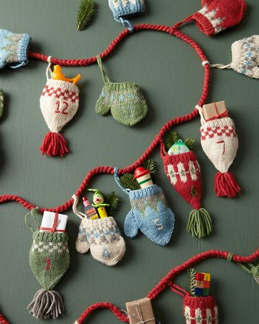 Knitting Pattern Christmas Advent Calendar : 415 best images about garlands, hanging stringy decorations and bunting... on...