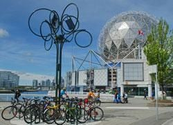 Bikers paradise on False Creek at Science World