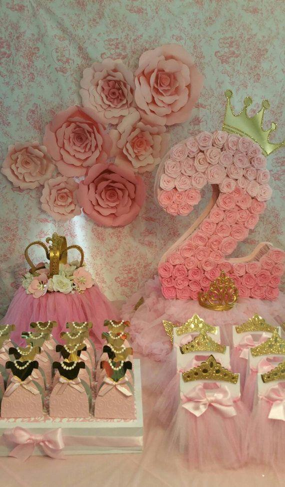 Gold and pink  pinata, Gold party, number pinata, princess party , royalty party, Number 2 pinata....