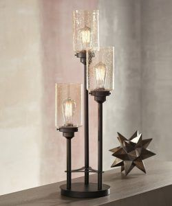 3.  Franklin Iron Works, Libby 3-Light Industrial Console Lamp