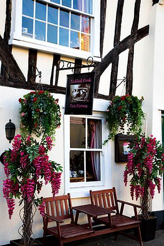 Tickled Pink Tea Rooms, Lavenham, Suffolk, England, UK