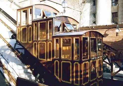 Budapest Castle Hill Funicular (Budavári Sikló) ― A funicular railway that links Adam Clark Square and the Széchenyi Chain Bridge at river level to Buda Castle above. The line was opened on March 2, 1870, and has been in municipal ownership since 1920. It was destroyed in the Second World War yet later rebuilt and reopened on June 4, 1986. #Budapest #Funicular #Siklo ♥