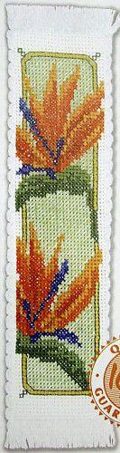 Semco Count Cross Stitch Bookmark KIT Bird Paradise Flowers | eBay