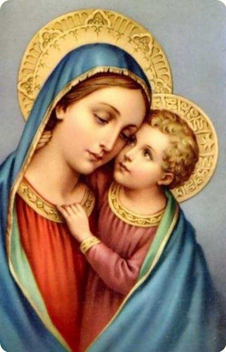 Maria en kindje Jezus.