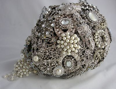 Gorgeous Jewelry Bouquet!!!Letters4lilly The Royal Wedding Vintage by LillybudsBouquets, $675.00