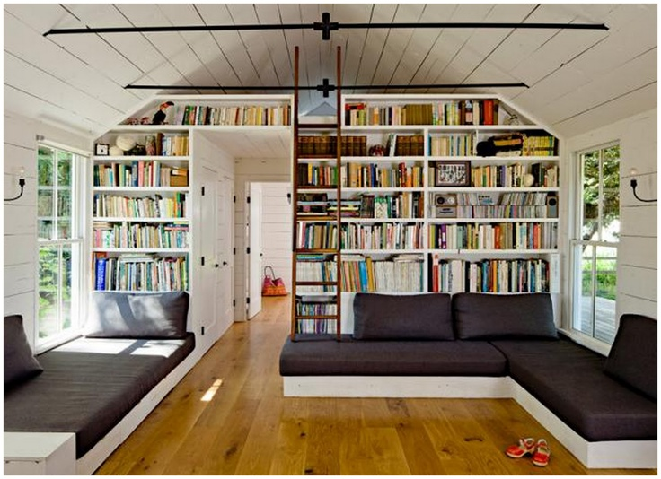 Wall of books - Little Miss Homes