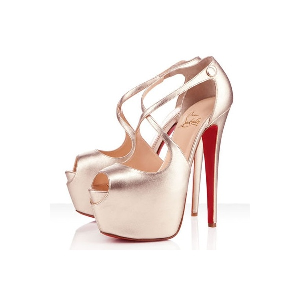 Christian Louboutin Red Bottom 160mm Exagona Crisscross Sandals Platine