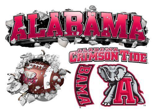 alabama bedroom ideas | Alabama Crimson Tide Multi Logo Design Wallcrasher
