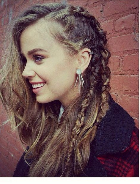 deep part + side braid