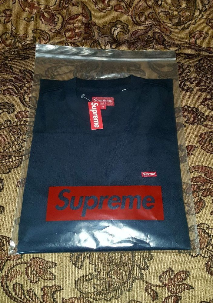 a9f82e1840c5 Supreme Small Box Logo tee Navy Small S/S 18 In Hand #Supreme #BasicTee
