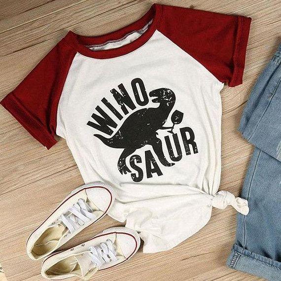 b73392d71 Winosaur Shirts Funny Wine Shirts/ Dinosaur Shirts Wine Lover Gift Drinking  Shirt/ Drinking Wine Red Wine Funny Dino Shirt Dinosaur Tshirt