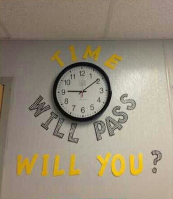 I have this written on my clock but it is hard to see.  Will have to change it to this.