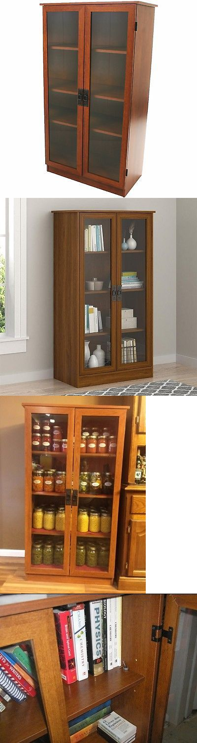 Bookcases 3199: Tall 4 Shelf Storage Display Cabinet Barrister Bookcase Glass Doors Wood Cherry -> BUY IT NOW ONLY: $219.9 on eBay!