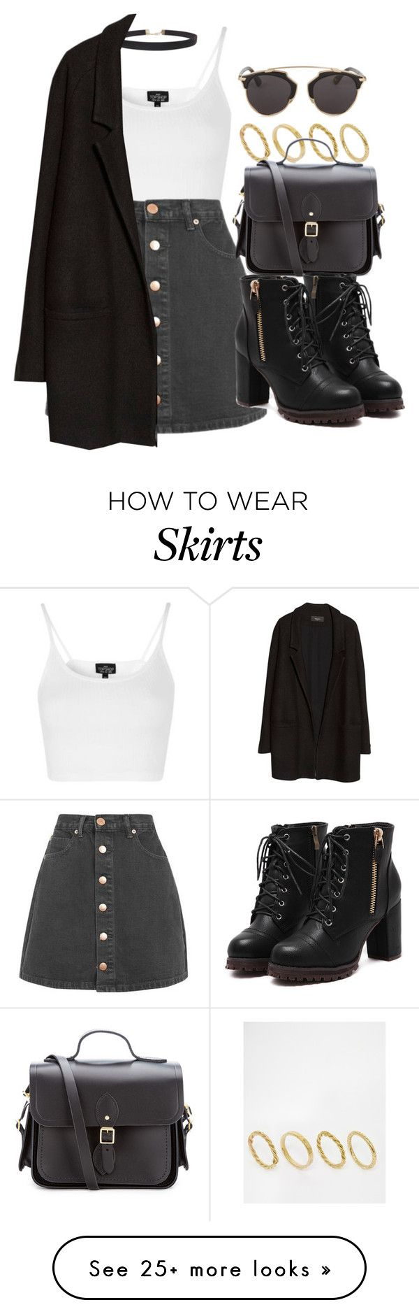 """Style #11762"" by vany-alvarado on Polyvore featuring Topshop, Humble Chic, Glamorous, MANGO, Made, The Cambridge Satchel Company and Christian Dior"