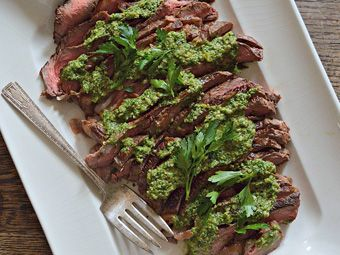 Green Recipes for Earth Day: Grilled Steak with Italian Salsa Verde