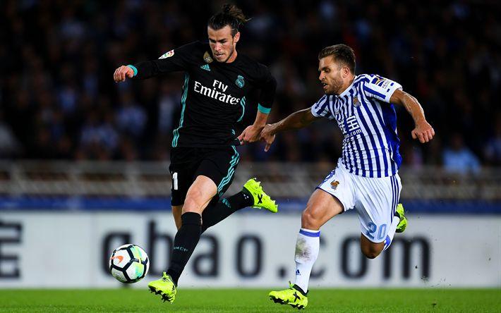 Download imagens Gareth Bale, 4k, futebol, jogadores de futebol, La Liga, estrelas do futebol, O Real Madrid