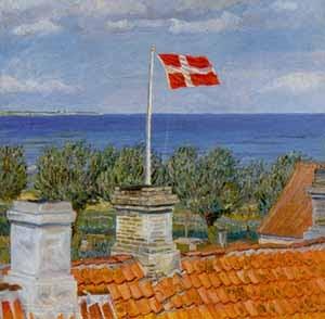 The Danish artist Johannes Larsen (1867-1961)  Kerteminde