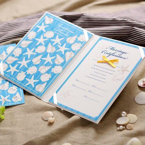 ゲスト参加型結婚証明書「マレーナ ライトブルー(30~60名様用)」 http://www.farbeco.jp/marriage-certificate.html