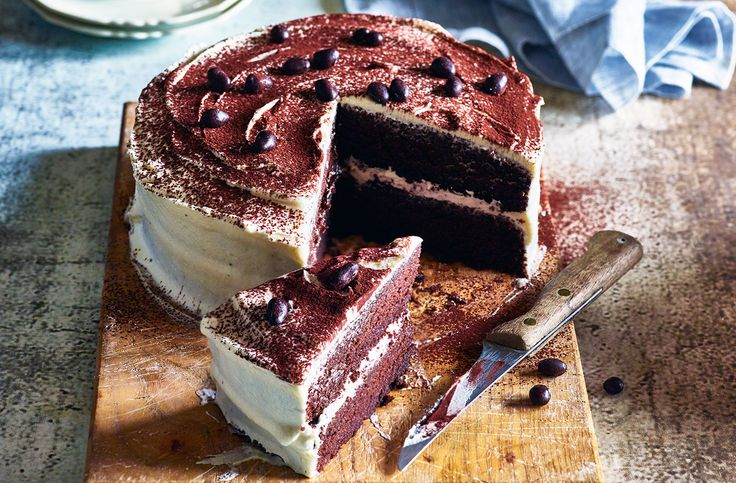 Cappuccino cake with mallow fluff frosting | Tesco Real Food
