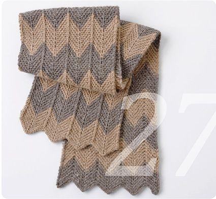 Strickanleitung für einen Chevron Schal von Knit Kit auf DaWanda.com