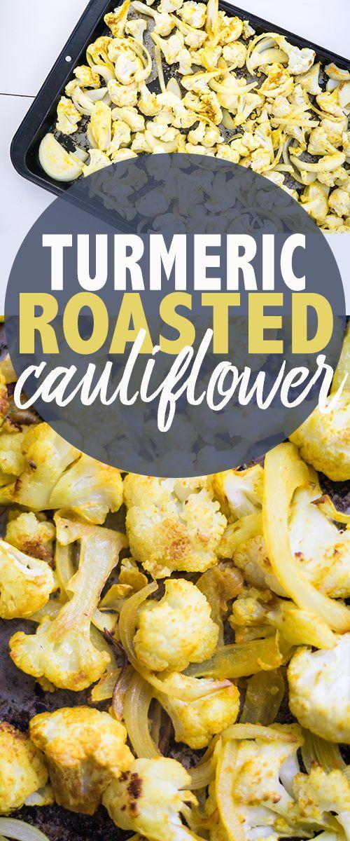 golden cauliflower - turmeric roasted cauliflower