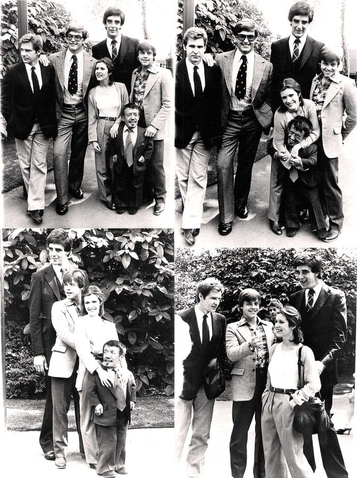 Harrison Ford, Dave Prowse, Peter Mayhew, Carrie Fisher, Mark Hamill and Kenny Baker