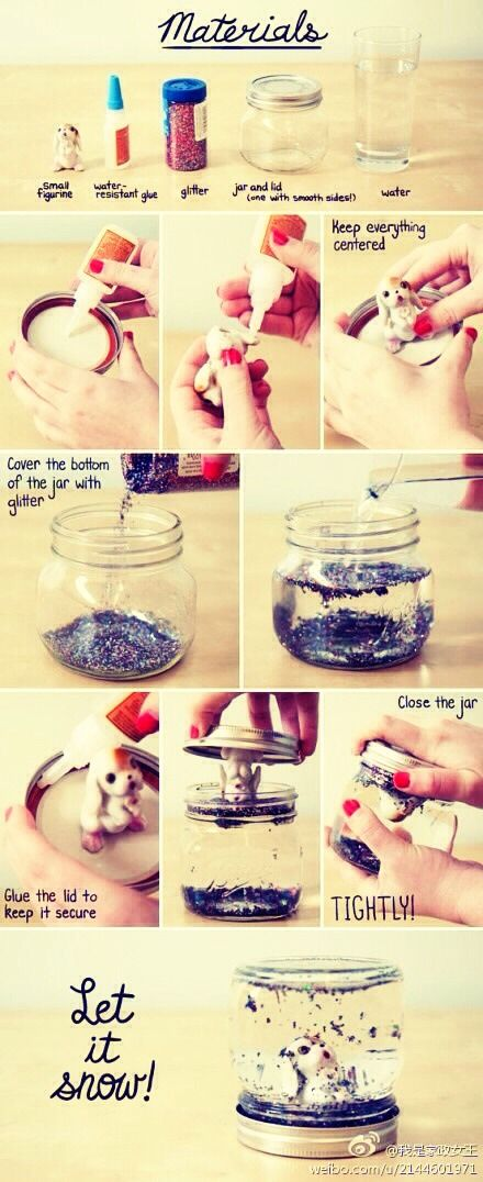 How To Make A Snow Globe. Don't Forget To Like :)