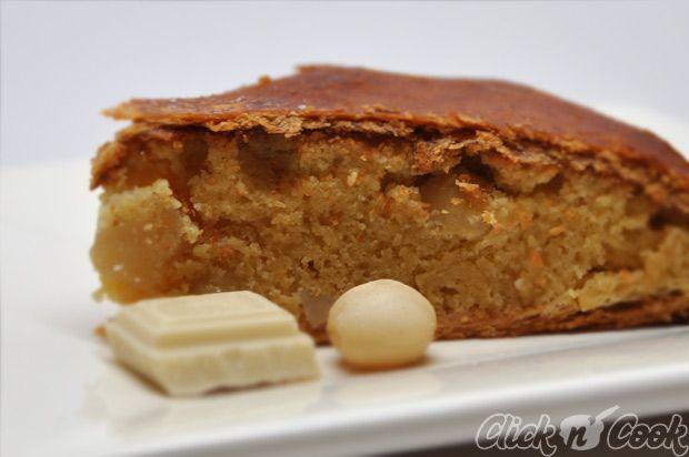 galette des rois chocolat blanc, noix de macadamia