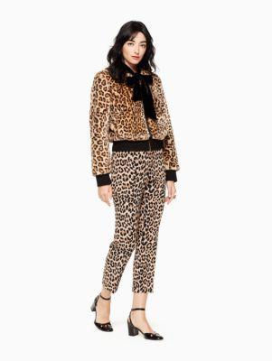 leopard faux fur bomber | Kate Spade New York