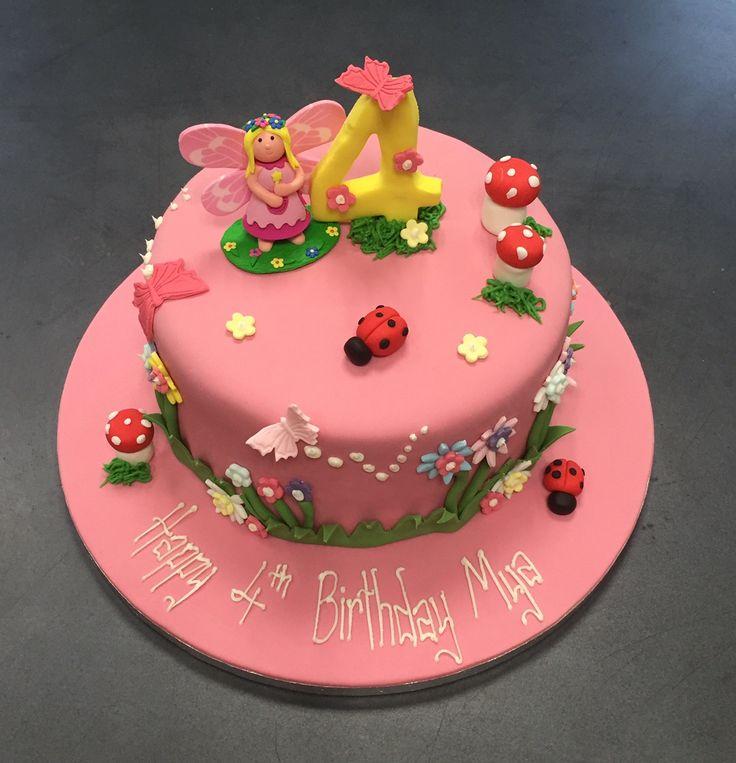25 best fairy garden cake ideas on pinterest fairy for Fairy garden birthday cake designs