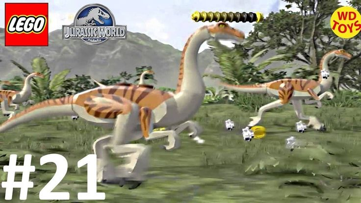 New Lego Jurassic World  Game Level 21: Gallimimus Escape Bonus Level Ga...