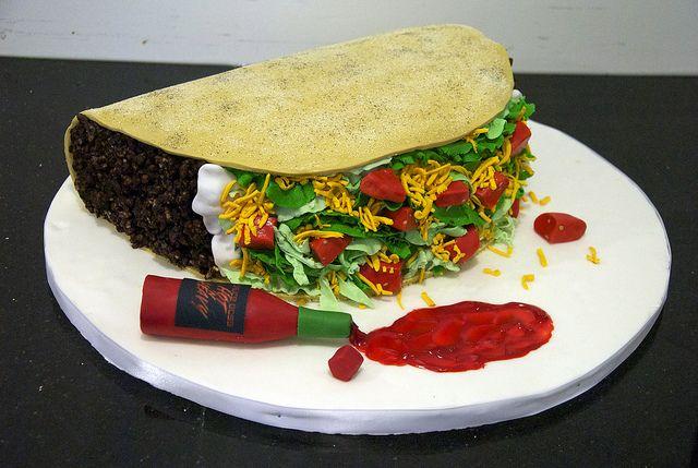 huge taco birthday cake by www.fortheloveofcake.ca, via Flickr