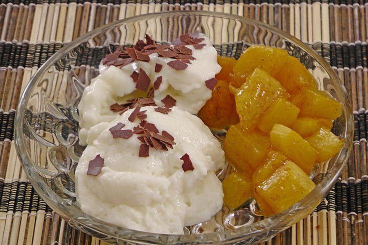 Honig - Zimt Ananas mit Mascarponecreme