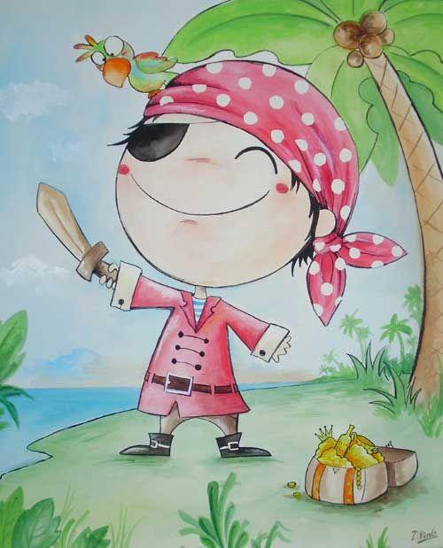 cuadro infantil pirata
