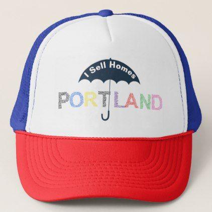Portland Real Estate Homes Navy Baseball Cap Hat - real estate gifts business cyo diy customize