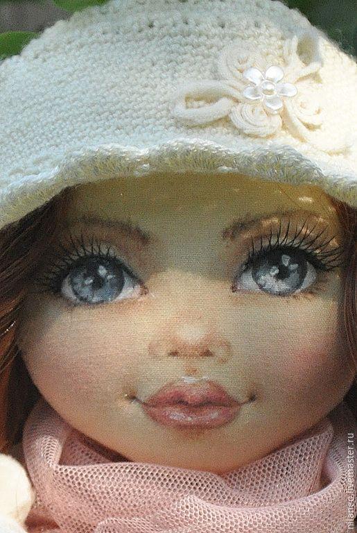 Купить Текстильная кукла Амелия - кремовый, текстильная кукла, интерьерная кукла, коллекционная кукла