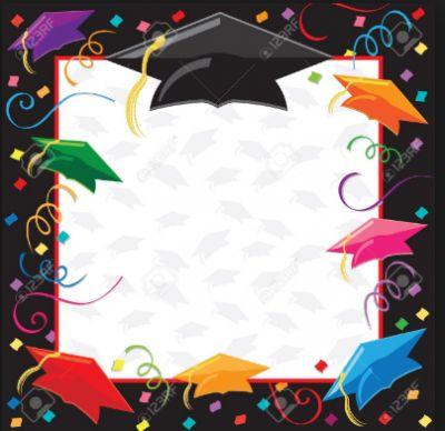 tarjetas de graduacion para editar en negro