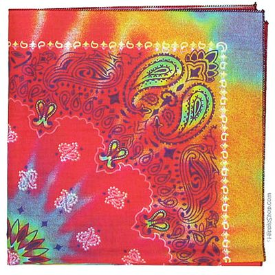 "Absolutely stunning ... the colors are so beautiful  $3.95 Paisley Tie Dye Bandana 22"" x 22"" at Hippie Shop  http://www.hippieshop.com/cgi-bin/gold/item/3036"