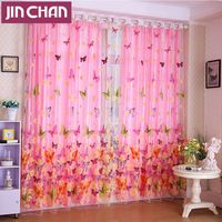 mariposa impreso cortina de la ventana apagn tela de la cortina cortinas modernas para sala de