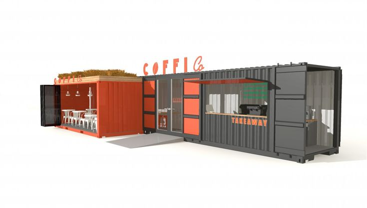 Shipping container cafe conversion. Designed, manufactured and installed by ISO Spaces for the ever expanding Coffi Co, Cardiff Bay.