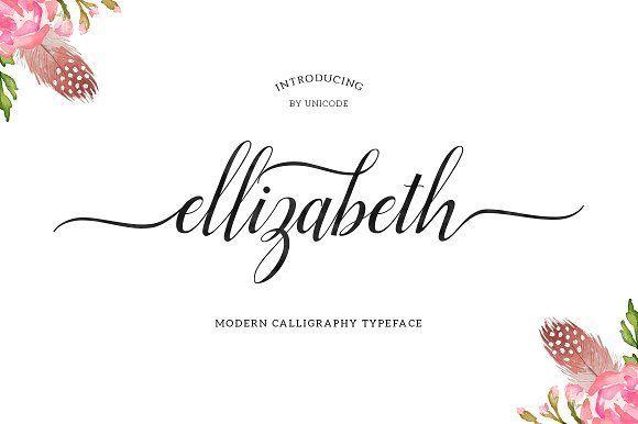 Ellizabeth Script (25% Off) by Unicode on @creativemarket