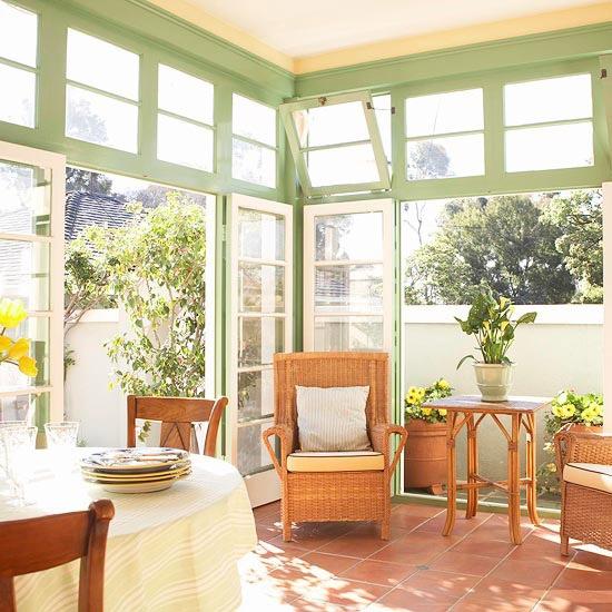 Porch design ideas for Sunroom breakfast nook
