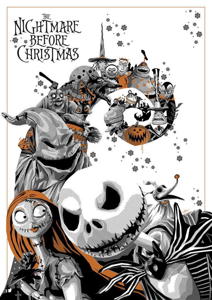 Nightmare Before Christmas Illustration.Nightmare Before Christmas Movies N Rum Nightmare