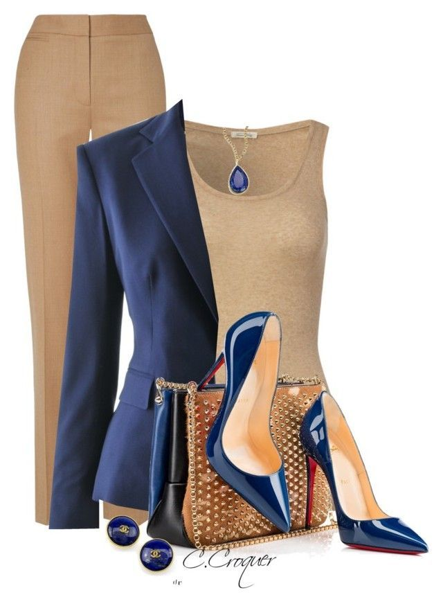 Camel & Blue by ccroquer on Polyvore featuring Ame…