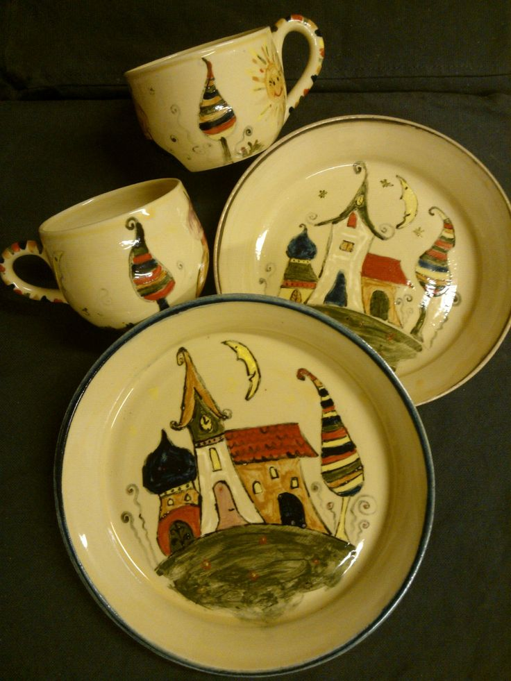 Meseváros kerámia készlet / Tale Town ceramic set