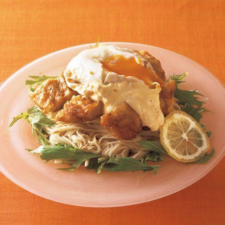 とろたまチキン南蛮そうめん | 井澤由美子さんの揚げものの料理レシピ | プロの簡単料理レシピはレタスクラブニュース