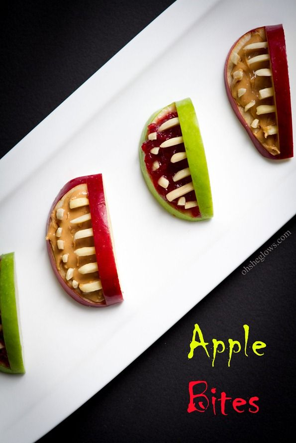 3-Ingredient Apple Bites. How innovative! I think I would substitute pine nuts for the almond slivers.