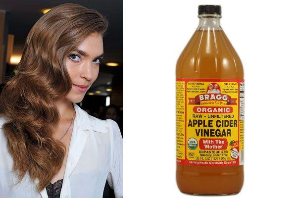 homemade hair treatments - apple cider vinegar