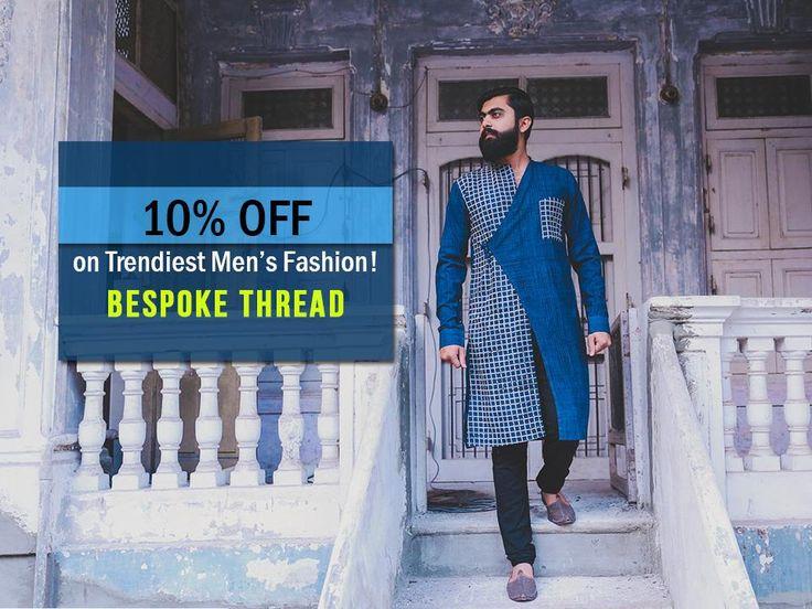10% OFF on trendiest Men s Fashion by Bespoke Thread. Call- 9724442090  #Fashion #Clothing #Apparels #Sale #Discount #Menswear #MensFashion #Kurtas #FashionLabel #fashionwear #PrintBandhaniShirts #BespokeThread #CityShorAhmedabad