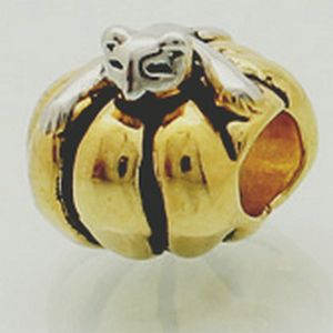 Подлинная золото - покрытие серебро цвет тыква бусины. Fit пандора браслеты браслеты и ювелирные изделия аксессуары